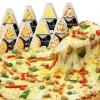 费兰叔叔披萨套餐8份5口味成品 必斐艾匹萨饼底加热即食 冷冻组合